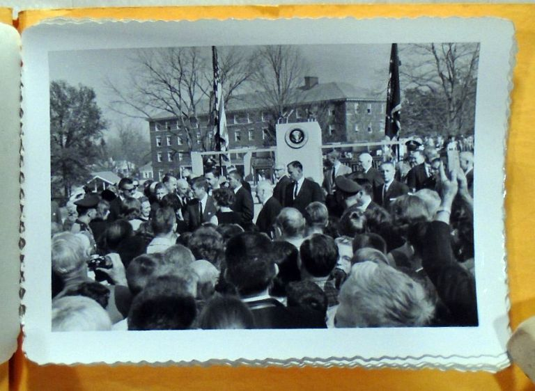 Original Photograph Snapshots of President John F. Kennedy at Amherst College, 1963. John F. KENNEDY