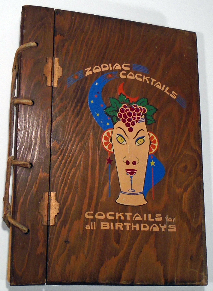 Zodiac Cocktails, Cocktails For All Birthdays [SIGNED AND INSCRIBED]. Stanley S. MACNIEL
