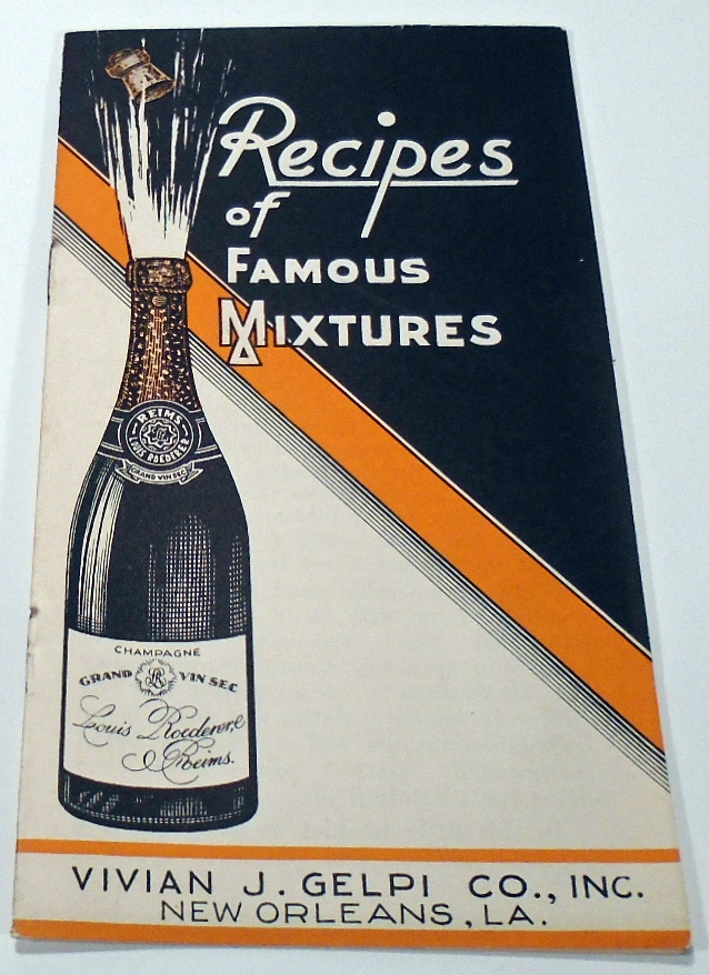 Recipes of Famous Mixtures [Cocktails]. ANONYMOUS