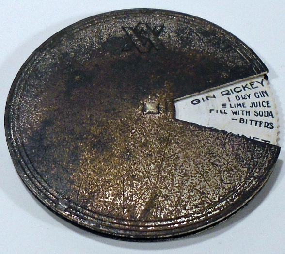 Cocktail Recipe Disk [Cocktail Volvelle]. NAPIER COMPANY.