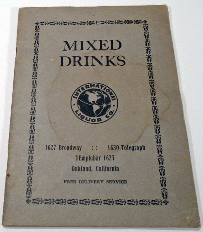 Mixed Drinks [and] Bartender's Manual [Cocktails]. ANONYMOUS.