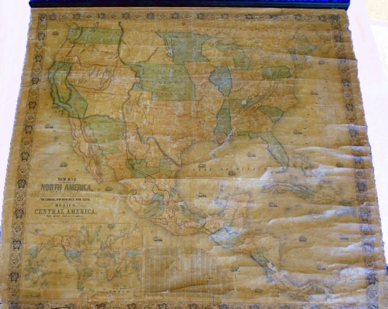 New Map of that Portion of North America Exhibiting the United States and Territories, the Canadas, New Brunswick, Nova Scotia and Mexico. Also, Central America and The West India Islands. Jacob MONK.