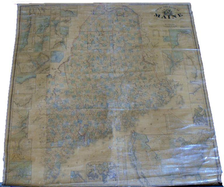 Map of the State of Maine From Actual Surveys [Wall Map]. Henry Francis WALLING