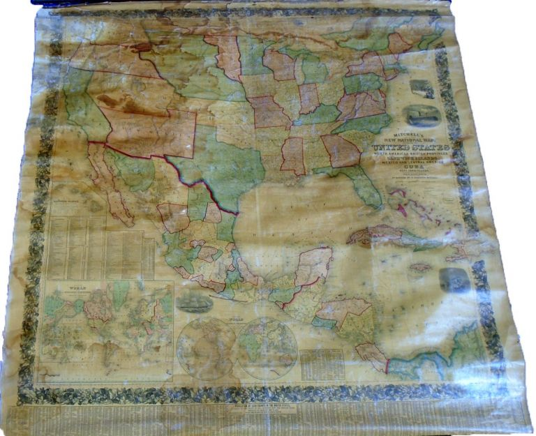 New National Map Exhibiting The United States [Wall Map]. Samuel Augustus MITCHELL.