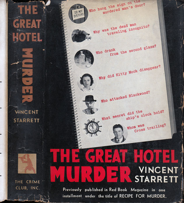 The Great Hotel Murder. Vincent STARRETT.