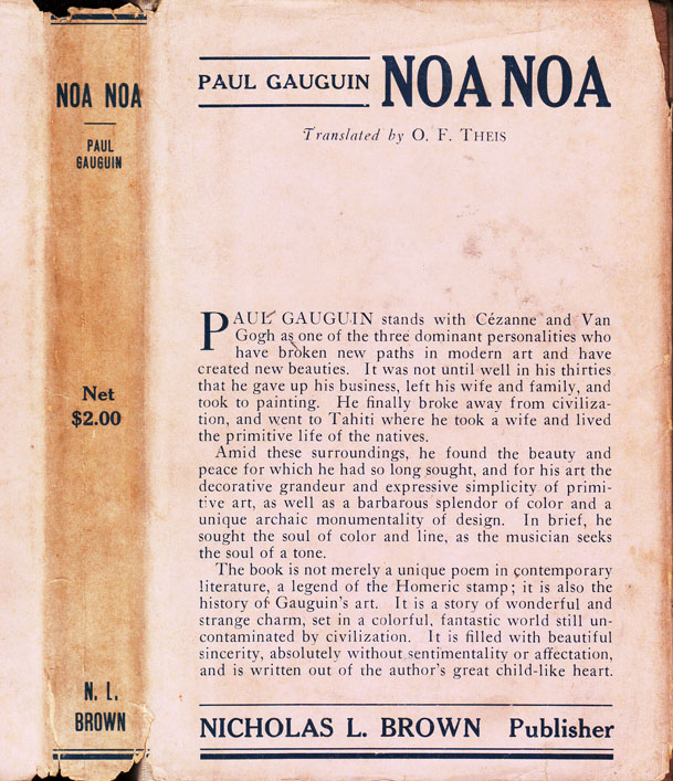 Noa Noa. Paul GAUGUIN