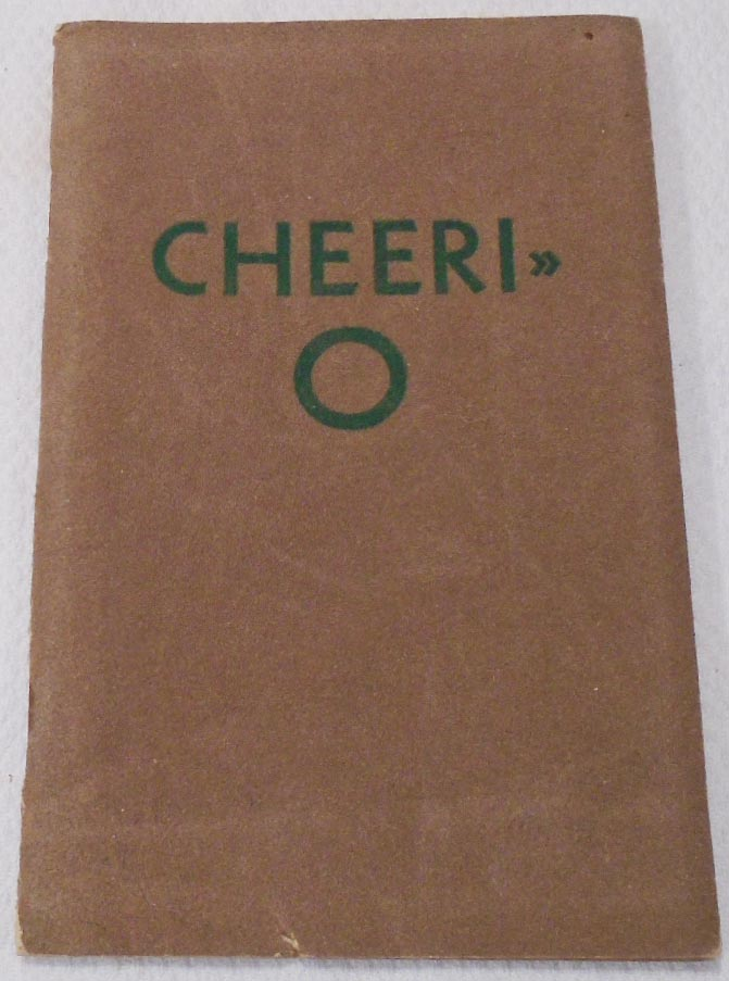 Cheeri-O [COCKTAIL RECIPE BOOKLET]. HINDE, DAUCH PAPER COMPANY