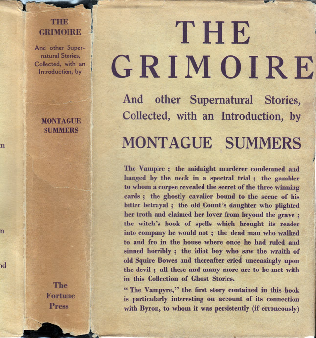 The Grimoire and Other Supernatural Stories. Montague SUMMERS