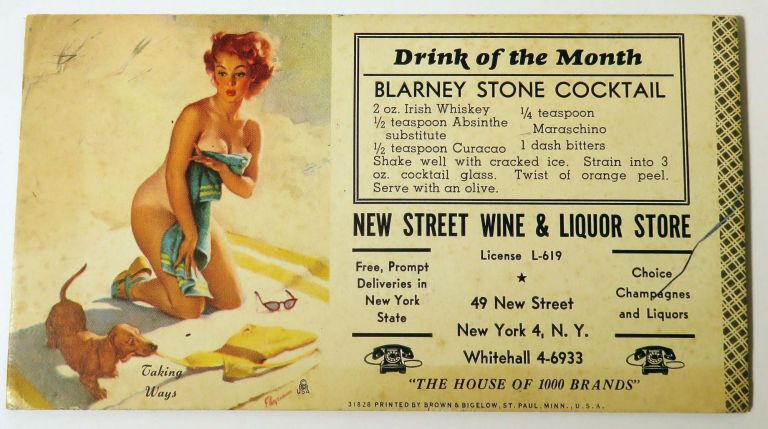Drink of the Month: Blarney Stone Cocktail. NEW STREET WINE, LIQUOR STORE
