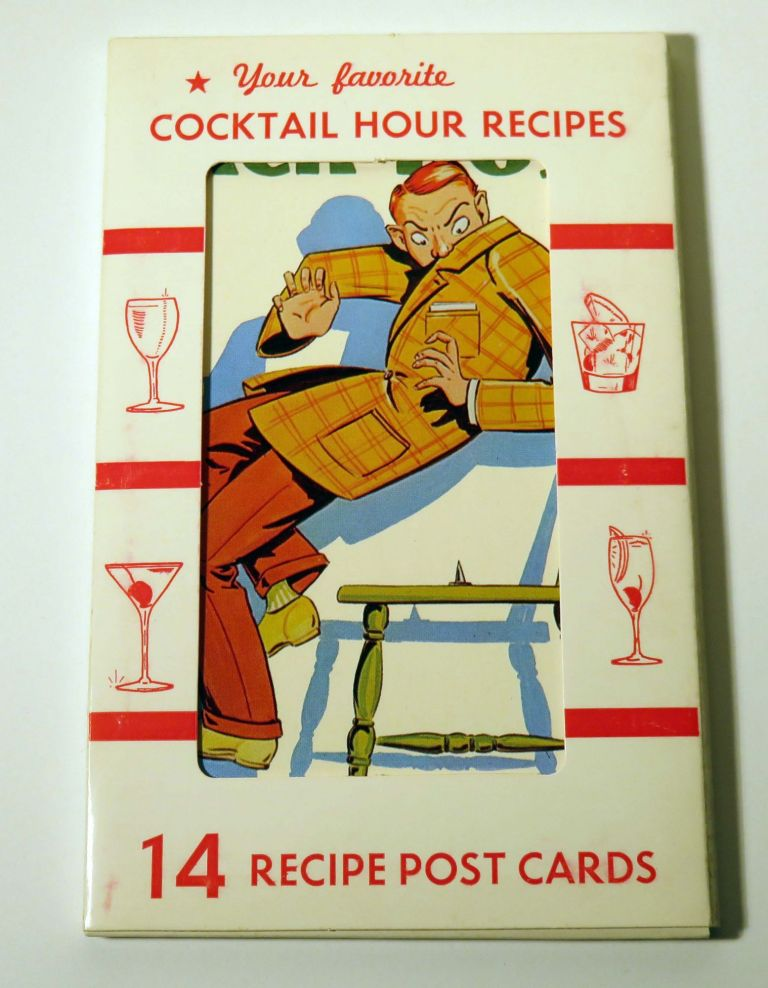 Your Favorite Cocktail Hour Recipes, 14 Recipe Post Cards. DEXTER PRESS.