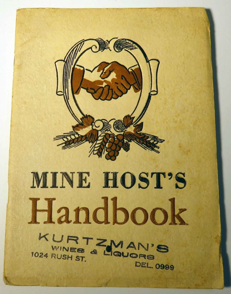 Mine Host's Handbook. ANONYMOUS.