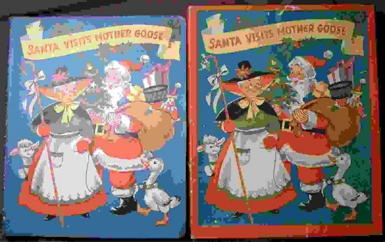POP-UP BOOK) Santa Visits Mother Goose. Anonymous