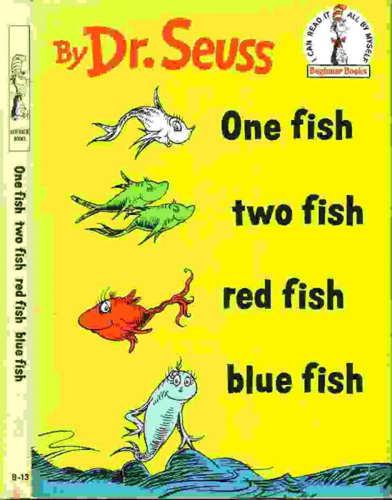 One fish two fish red fish blue fish seuss dr for One fish two fish red fish blue fish coloring pages