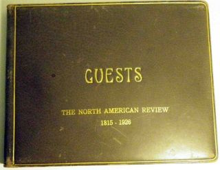 Autographs found in the Guest Book for The North American Review