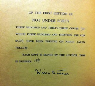 Not Under Forty [SIGNED]