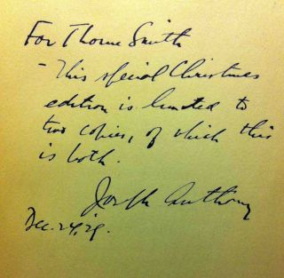 The Lost Shirt [SIGNED AND INSCRIBED ASSOCIATION COPY]