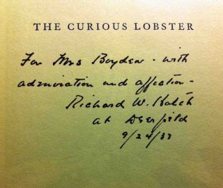 The Curious Lobster [SIGNED AND INSCRIBED]