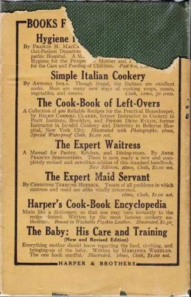 The Expert Waitress, A Manual for the Pantry and Dining Room