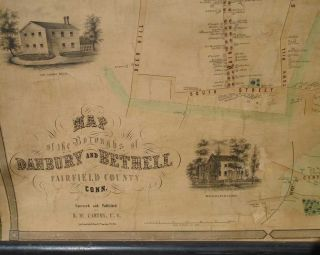 Map of the Boroughs of Danbury and Bethell [Bethel] Fairfield County Conn.