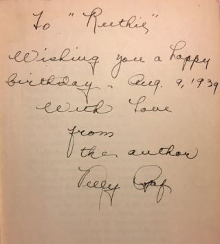 Lady in Love [SIGNED AND INSCRIBED]