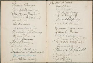 Memorial Signature Book with W. C. Matthews Autograph [AFRICAN AMERICAN BASEBALL PIONEER] [Tuskeegee Institute]