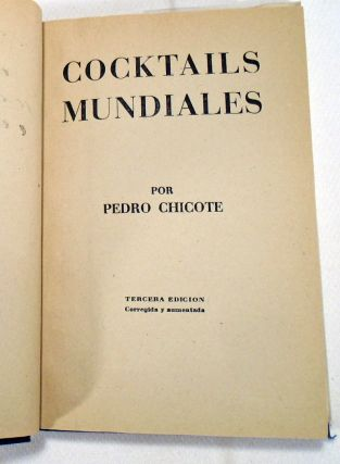 Cocktails Mundiales [SIGNED AND INSCRIBED]