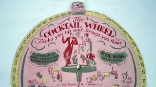 The Cocktail Wheel / Picks You Up and Brings You Home / Consisting of 52 spokes of Captivating Cocktail Concoctions