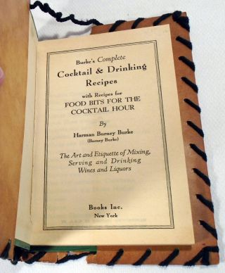 Burke's Complete Cocktail and Drinking Recipes