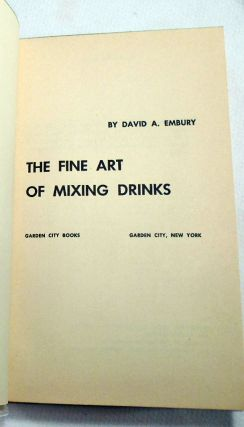 The Fine Art of Mixing Drinks [COCKTAILS]