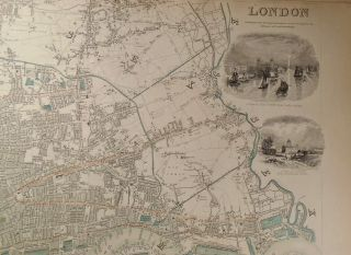 Map of London, 1843
