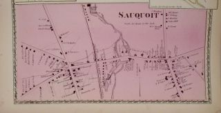 Map of Sauquoit and New York Upper Mills, New York