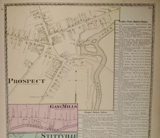 Map of Prospect, Gang Mills, and Stittville, New York