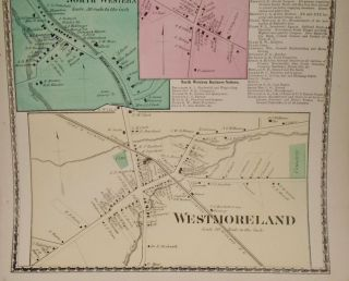 Map of Westernville and Westmoreland, New York