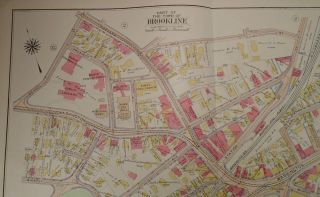 Map of Part of Brookline, Massachusetts
