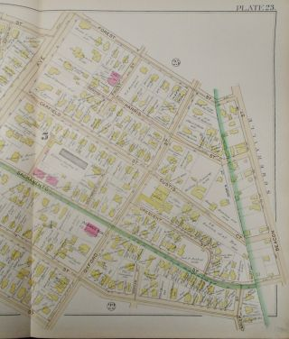 Map of Part of Wards 1 and 5 in Cambridge, Massachusetts
