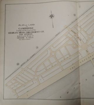 Plan of Land in Cambridge, Massachusetts laying out the Land of the Charles River Embankment Co., and others