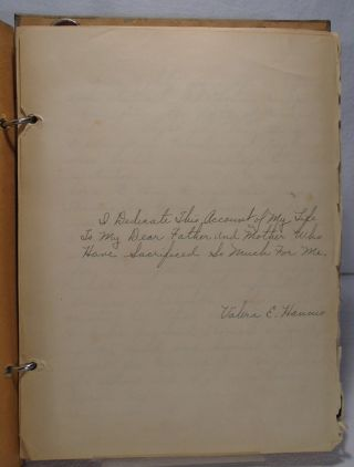 Jersey Girl's Account of Her Life - 1934 Manuscript and Photographs