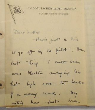Archive of Letters and Correspondence to and from Henry A. Colgate of The Colgate Family [Henry Auchincloss]: Salt Lake City, San Bernadine, Long Beach California, Yellowstone, Bombay India, Burma, Siam, Singapore, Shanghai China, Tokyo Japan