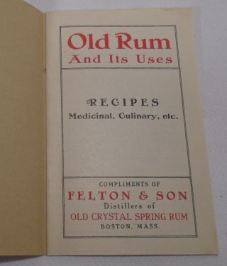 Old Rum and Its Uses, Recipes, Medicinal, Culinary, etc. [Cocktails]
