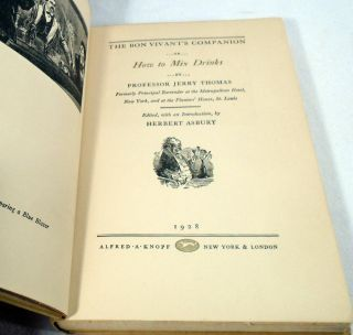 The Bon Vivant's Companion, Or, How to Mix Drink