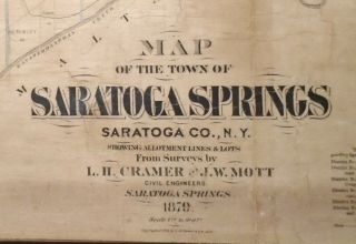 Map of the Town of Saratoga Springs, New York [WALL MAP]