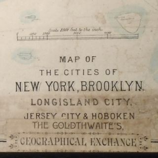 Map of the Cities of New York, Brooklyn, Long Island City [WALL MAP]