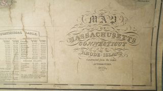 Map of Massachusetts, Connecticut and Rhode Island [WALL MAP]
