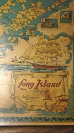 Long Island, New York [SMALL WALL MAP]