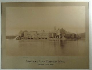 Large Sepia Toned Photograph of the Montague Paper Company Mill, Turners Falls, Massachusetts [20 by 12 inches]