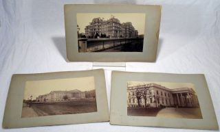 Original Photographs of White House, Navy Building and Treasury Building, Washington DC