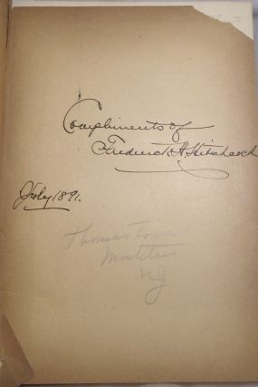 HITCHCOCK, Frederick H. The Handbook of Amherst, Massachusetts. [SIGNED AND INSCRIBED]