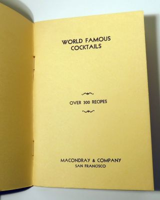 World Famous Cocktails, Over 300 Recipes
