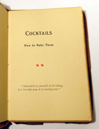 The Gorham Cocktail Book