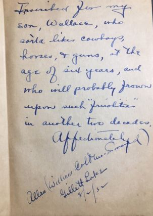 Rustlers' Paradise [INSCRIBED AND SIGNED TO SON]